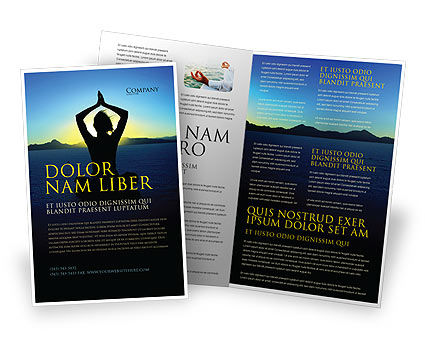 Contemplation Brochure Template, 06786, Religious/Spiritual — PoweredTemplate.com