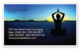 Religious/Spiritual: Contemplation Business Card Template #06786