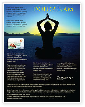 Religious/Spiritual: Contemplation Flyer Template #06786
