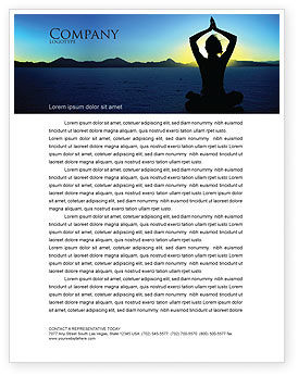 Contemplation Letterhead Template, 06786, Religious/Spiritual — PoweredTemplate.com
