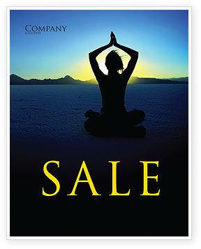 Religious/Spiritual: Contemplation Sale Poster Template #06786