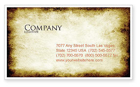 Rusty Background Business Card Template, 06808, Abstract/Textures — PoweredTemplate.com