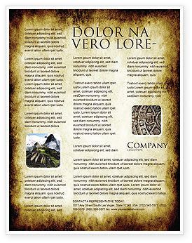 Rusty Background Flyer Template