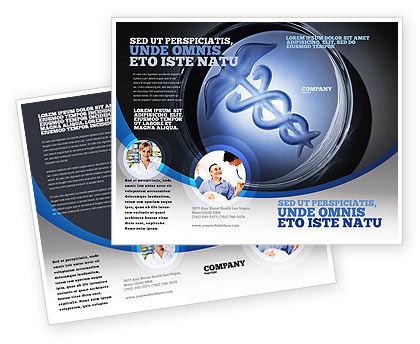 Medicine Brochure Template, 06812, Medical — PoweredTemplate.com