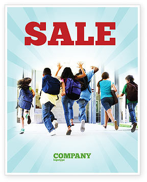 Education & Training: School Kids Sale Poster Template #06830