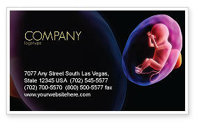 Medical: Fetus Business Card Template #06851