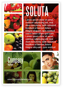 Nutrition Ad Template, 06856, Food & Beverage — PoweredTemplate.com