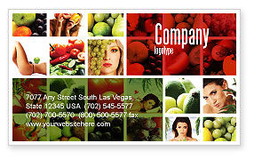 Nutrition Business Card Template, 06856, Food & Beverage — PoweredTemplate.com