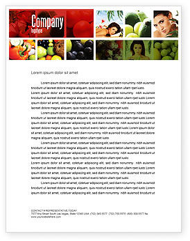 Nutrition Letterhead Template, 06856, Food & Beverage — PoweredTemplate.com