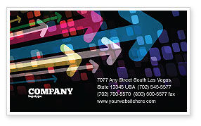 Abstract/Textures: Colorful Arrows Business Card Template #06881