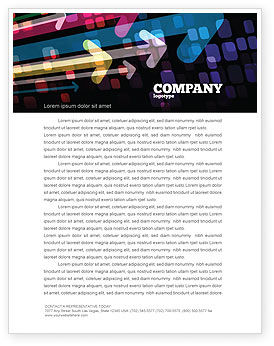 Colorful Arrows Letterhead Template, 06881, Abstract/Textures — PoweredTemplate.com