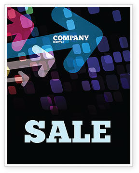 Colorful Arrows Sale Poster Template, 06881, Abstract/Textures — PoweredTemplate.com