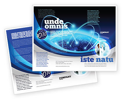 World Infosphere Brochure Template, 06885, Technology, Science & Computers — PoweredTemplate.com