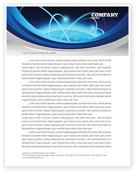 World Infosphere Letterhead Template, 06885, Technology, Science & Computers — PoweredTemplate.com
