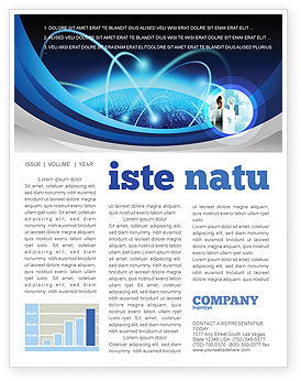 Technology, Science & Computers: World Infosphere Newsletter Template #06885