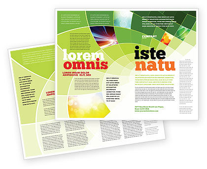 Abstract Green Sections Brochure Template