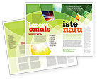 Abstract/Textures: Abstract Green Sections Brochure Template #06895