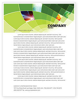 Abstract Green Sections Letterhead Template, 06895, Abstract/Textures — PoweredTemplate.com