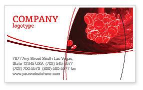 Blood Clot Business Card Template, 06904, Medical — PoweredTemplate.com