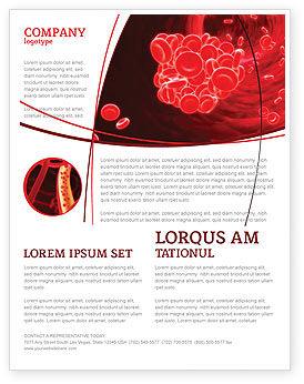 Blood Clot Flyer Template, 06904, Medical — PoweredTemplate.com