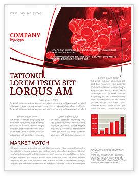 Blood Clot Newsletter Template, 06904, Medical — PoweredTemplate.com
