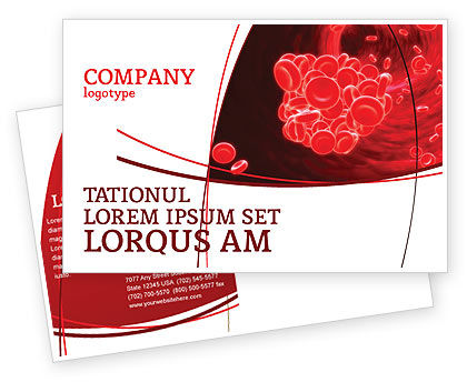 Blood Clot Postcard Template, 06904, Medical — PoweredTemplate.com