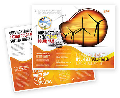 Careers/Industry: Energy Saving Technologies Brochure Template #06908