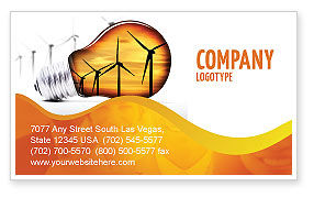 Energy Saving Technologies Business Card Template, 06908, Careers/Industry — PoweredTemplate.com