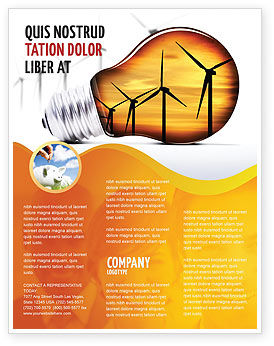 Careers/Industry: Energy Saving Technologies Flyer Template #06908
