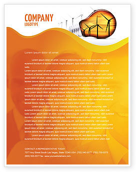 Careers/Industry: Energy Saving Technologies Letterhead Template #06908