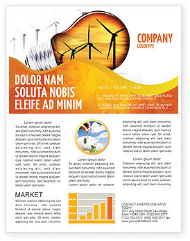 Careers/Industry: Energy Saving Technologies Newsletter Template #06908