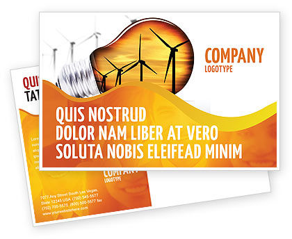 Careers/Industry: Energy Saving Technologies Postcard Template #06908