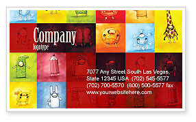 Education & Training: Childish Theme Business Card Template #06913