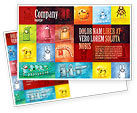 Education & Training: Childish Theme Postcard Template #06913
