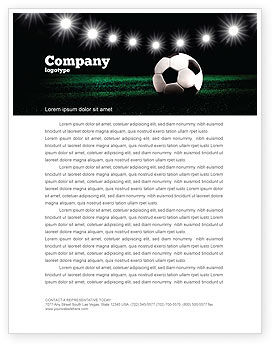 Football Stadium In The Night Letterhead Template, 06916, Sports — PoweredTemplate.com