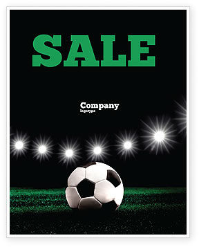 Football Stadium In The Night Sale Poster Template, 06916, Sports — PoweredTemplate.com