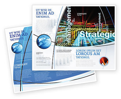 Strategic Management Brochure Template, 06919, Business — PoweredTemplate.com