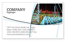 Strategic Management Business Card Template, 06919, Business — PoweredTemplate.com