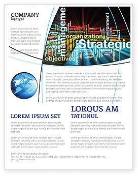 Business: Strategic Management Flyer Template #06919