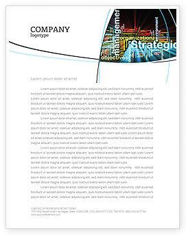 Business: Templat Kop Surat Manajemen Strategis #06919