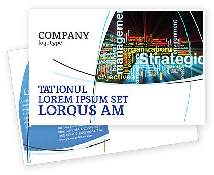 Business: Strategic Management Postcard Template #06919