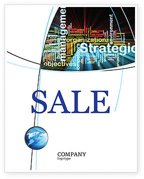 Strategic Management Sale Poster Template, 06919, Business — PoweredTemplate.com