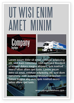 Cars/Transportation: Oplegger Vrachtwagens Advertentie Template #06923