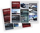 Cars/Transportation: Trailer Trucks Brochure Template #06923
