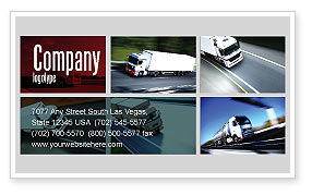 Cars/Transportation: Trailer Trucks Business Card Template #06923