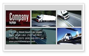 Cars/Transportation: トレーラートラック - 名刺テンプレート #06923