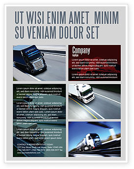 Cars/Transportation: Trailer Trucks Flyer Template #06923