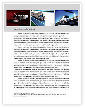 Cars/Transportation: Trailer Trucks Letterhead Template #06923