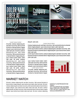Cars/Transportation: Trailer Trucks Newsletter Template #06923