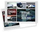 Cars/Transportation: Trailer Trucks Postcard Template #06923